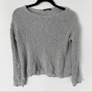 Brandy Melville Grey Knitted Sweater